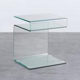 Table d'Appoint Carrée en Verre (42x38 cm) Erox, image miniature 1