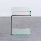 Table d'Appoint Carrée en Verre (42x38 cm) Erox, image miniature 3