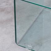 Table d'Appoint Carrée en Verre (42x38 cm) Erox, image miniature 6