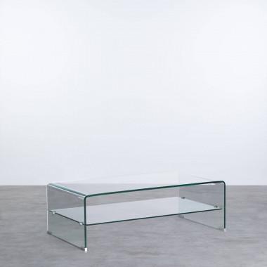 Table Basse Rectangulaire en Verre (110x55 cm) Alessa