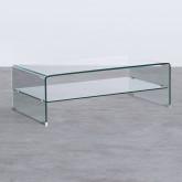 Table Basse Rectangulaire en Verre (110x55 cm) Alessa, image miniature 1