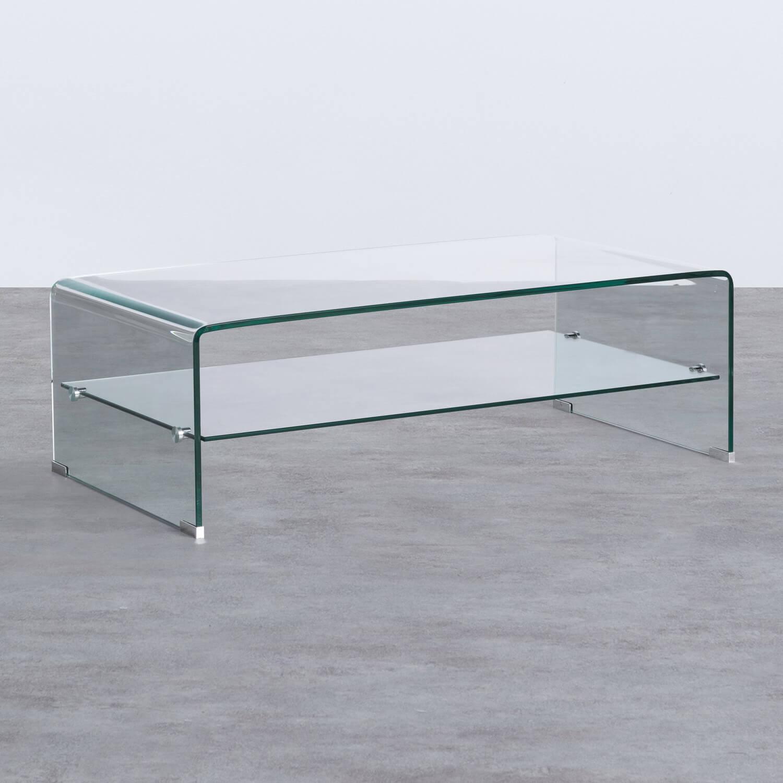 Table Basse Rectangulaire en Verre (110x55 cm) Alessa, image de la gelerie 1