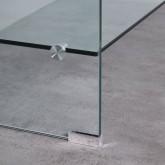 Table Basse Rectangulaire en Verre (110x55 cm) Alessa, image miniature 4