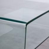 Table Basse Rectangulaire en Verre (110x55 cm) Alessa, image miniature 5