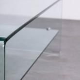 Table Basse Rectangulaire en Verre (110x55 cm) Alessa, image miniature 6