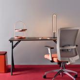 Lampe de Table LED en Aluminium et Acier Lexy, image miniature 2