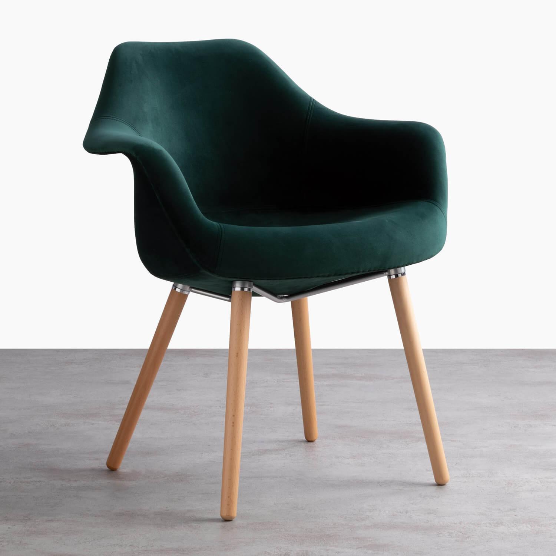 Chaise de Salle à manger en Velours Nordic Fine Velvet Edition, image de la gelerie 1