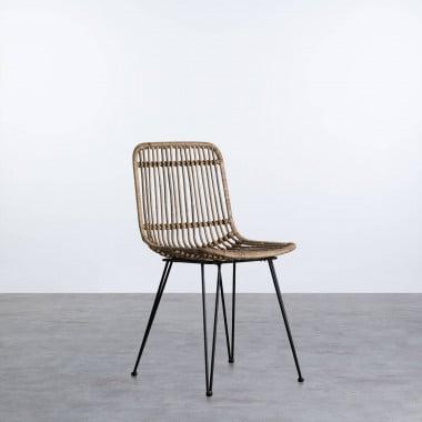 Chaise d'Extérieur en Rotin Naturel Nice