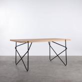 Table de Salle à Manger en MDF et Métal  (160x84,7 cm) Rombio, image miniature 1