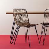 Chaise de Salle à manger en Rotin Naturel Nice, image miniature 2