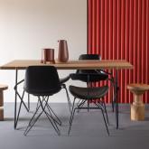 Table de Salle à Manger en MDF et Métal  (160x84,7 cm) Rombio, image miniature 2