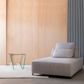 Table d'Appoint Carrée avec Porte-revues en Verre (50x50 cm) Vidre Line, image miniature 2