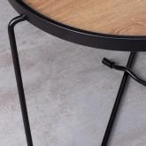 Table Basse Ronde en MDF et Métal (Ø59 cm) Tempo, image miniature 5