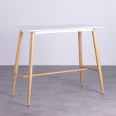 Table Hautre Rectangulaire MDF Amico (120x60), image miniature 1