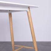 Table Hautre Rectangulaire MDF Amico (120x60), image miniature 2