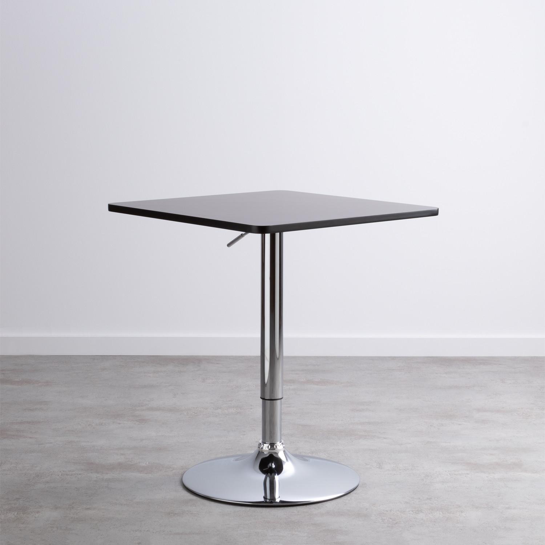 Table Haute Réglable en MDF et Acier (60x60 cm) Square Bar, image de la gelerie 1