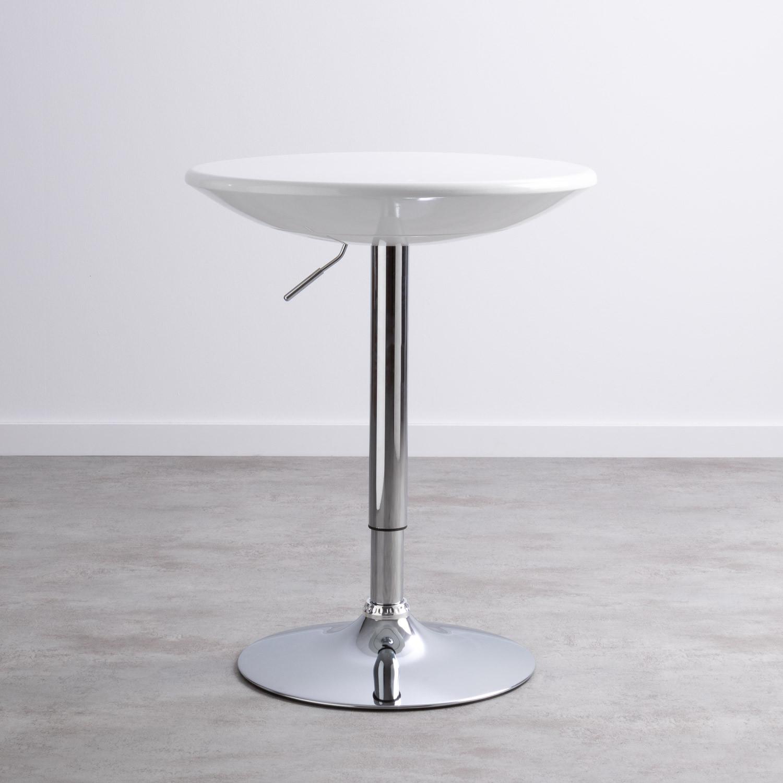 Table Haute Réglable en ABS et Acier (Ø60 cm) Faro, image de la gelerie 1