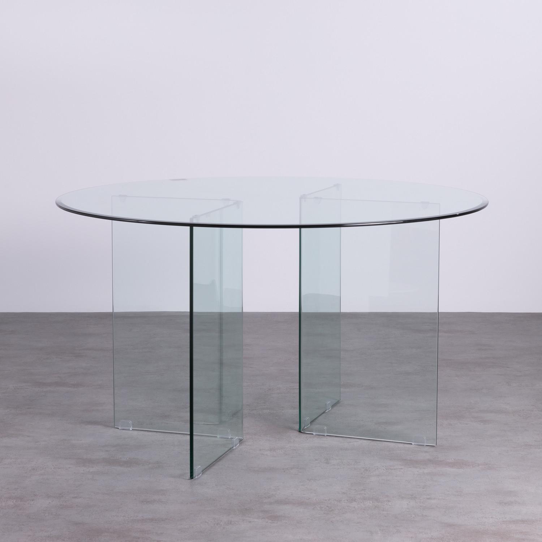 Table de Salle à Manger Ronde en Verre (Ø137 cm) Letta, image de la gelerie 1