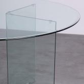 Table de Salle à Manger Ronde en Verre (Ø137 cm) Letta, image miniature 3