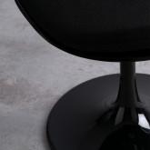 Chaise de Salle à manger en Polypropylène et Métal Freya Black, image miniature 3