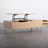 Table Basse Rectangulaire Relevable en Mélamine (110x86 cm) Mary, image miniature 4