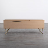 Table Basse Rectangulaire Relevable en Mélamine (110x86 cm) Mary, image miniature 5
