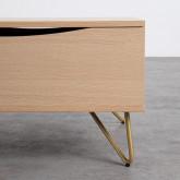 Table Basse Rectangulaire Relevable en Mélamine (110x86 cm) Mary, image miniature 7