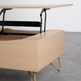 Table Basse Rectangulaire Relevable en Mélamine (110x86 cm) Mary, image miniature 8