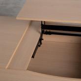 Table Basse Rectangulaire Relevable en Mélamine (110x86 cm) Mary, image miniature 9