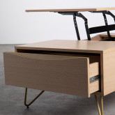 Table Basse Rectangulaire Relevable en Mélamine (110x86 cm) Mary, image miniature 10