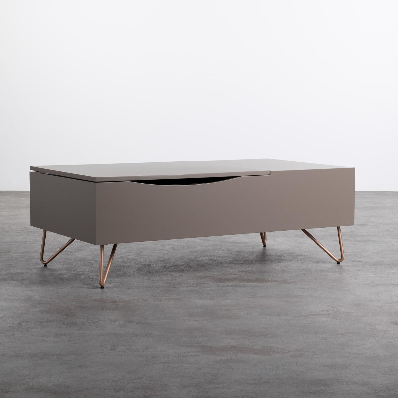 Table Basse Rectangulaire Relevable en MDF (110x86 cm) Mary, image de la gelerie 1