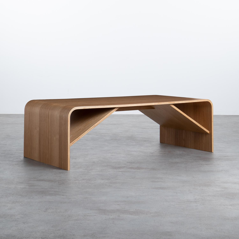 Table Basse Rectangulaire en Bois (120x58 cm) Shan, image de la gelerie 1