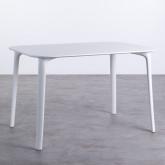 Table de Salle à Manger Rectangulaire en MDF et Polypropylène (120x80 cm) Abi, image miniature 1