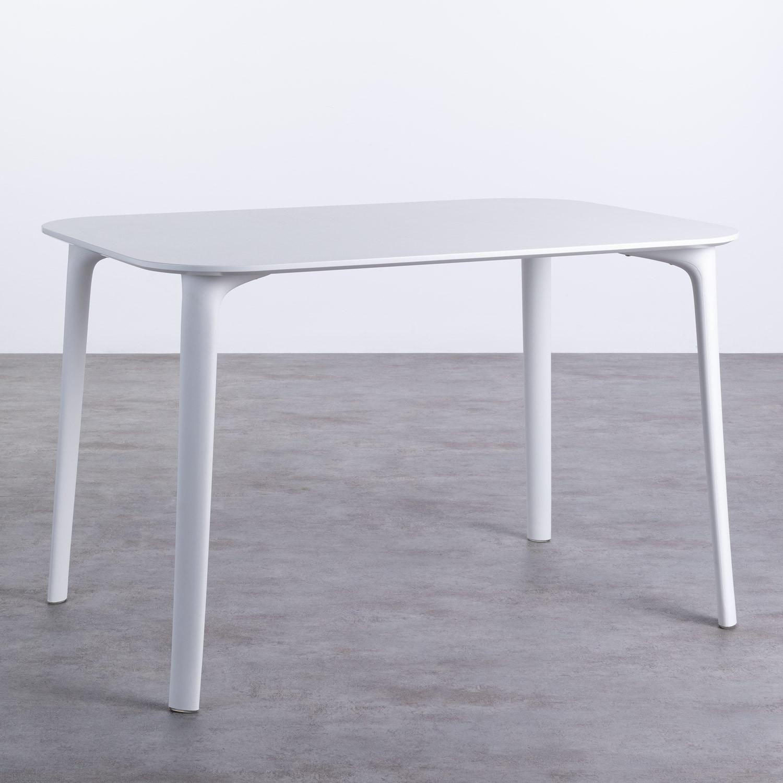 Table de Salle à Manger Rectangulaire en MDF et Polypropylène (120x80 cm) Abi, image de la gelerie 1
