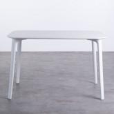 Table de Salle à Manger Rectangulaire en MDF et Polypropylène (120x80 cm) Abi, image miniature 2