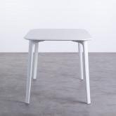 Table de Salle à Manger Rectangulaire en MDF et Polypropylène (120x80 cm) Abi, image miniature 3
