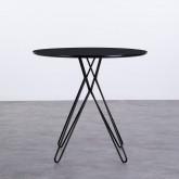 Table Ronde de Salle à Manger en MDF et Métal (Ø80 cm) Buk, image miniature 3