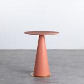 Table d'Appoint Ronde en MDF et Acier (50-60 cm) Era, image miniature 1