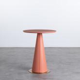Table d'Appoint Ronde en MDF et Acier (50-60 cm) Era, image miniature 3
