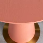 Table d'Appoint Ronde en MDF et Acier (50-60 cm) Era, image miniature 5