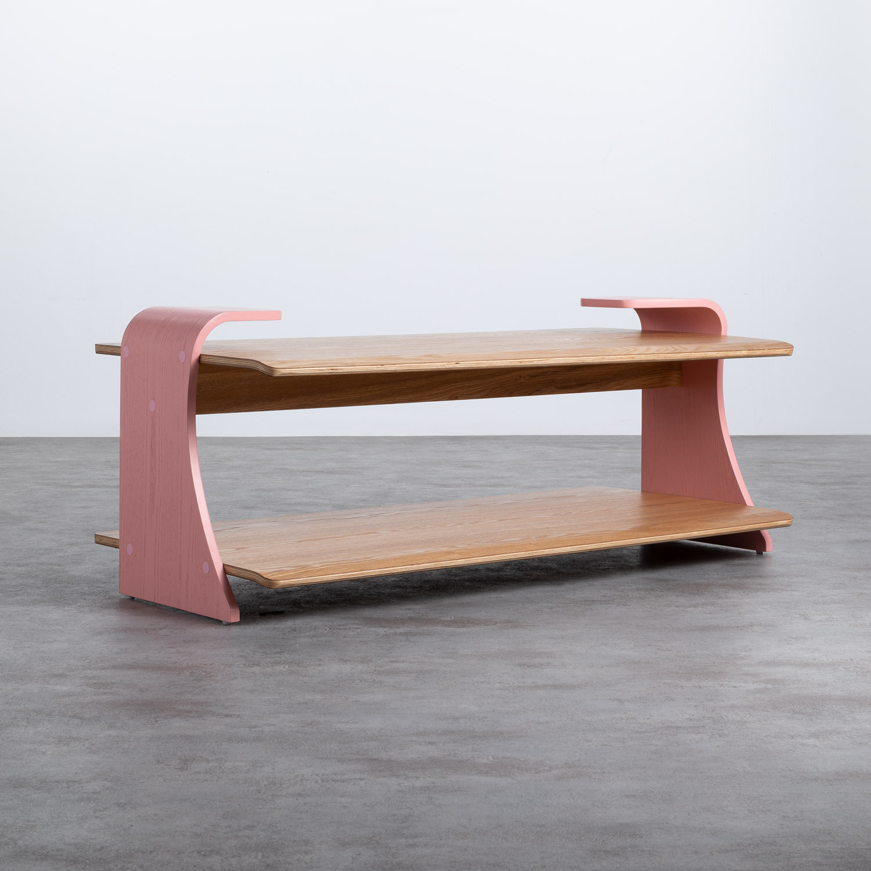 Table Basse Rectangulaire en MDF (134x60 cm) Tika, image de la gelerie 1