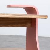 Table Basse Rectangulaire en MDF (134x60 cm) Tika, image miniature 6