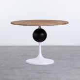 Table d'Appoint Ronde en MDF et Métal (Ø60cm) Linka, image miniature 1