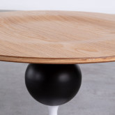 Table d'Appoint Ronde en MDF et Métal (Ø60cm) Linka, image miniature 4