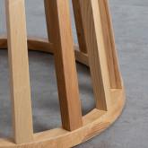Table de Salle à manger en Bois et Verre (Ø120 cm) Roxet, image miniature 6