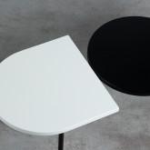 Table Basse 3 Plateaux en Bois et Acier (105x35 cm) Tri, image miniature 7