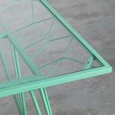 Table d'Extérieur Carrée en Acier et Verre (67,5x67,5 cm) Sagax, image miniature 4