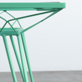 Table d'Extérieur Carrée en Acier et Verre (67,5x67,5 cm) Sagax, image miniature 6