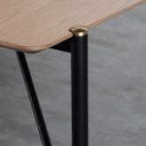 Table Rectangulaire de Salle à manger en MDF Chêne et Métal (160x90 cm) Hule, image miniature 4