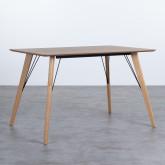 Table Rectangulaire de Salle à manger en Chêne MDF (120x80 cm) Berg, image miniature 1